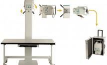 Трансформируемый (стационарный <-- --> портативный) ветеринарный рентгеновкий аппарат Sedecal DUAL VET X PL